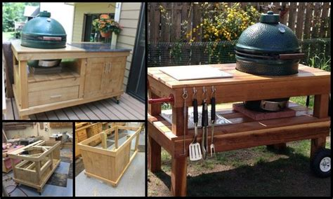 Outdoor Kitchen Island Plans build a barbecue grill table diy projects for everyone