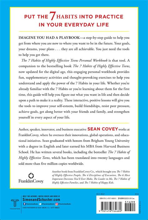 The 7 Habits Of Highly The 7 Habits Of Highly Effective Personal Workbook Book By Covey Official