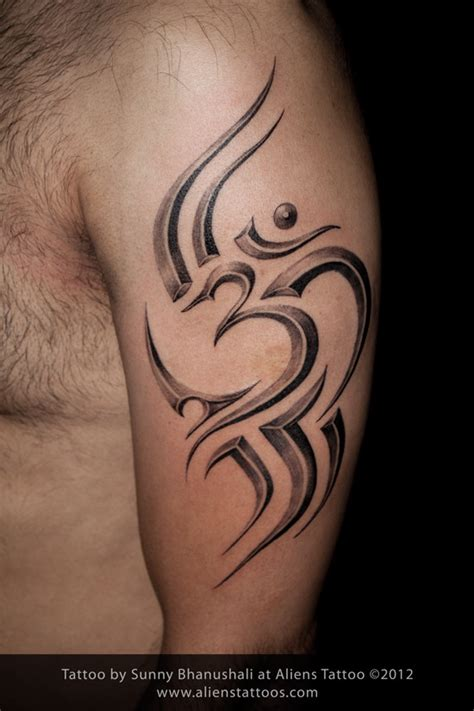 tribal om tattoo the gallery for gt om trishul logo