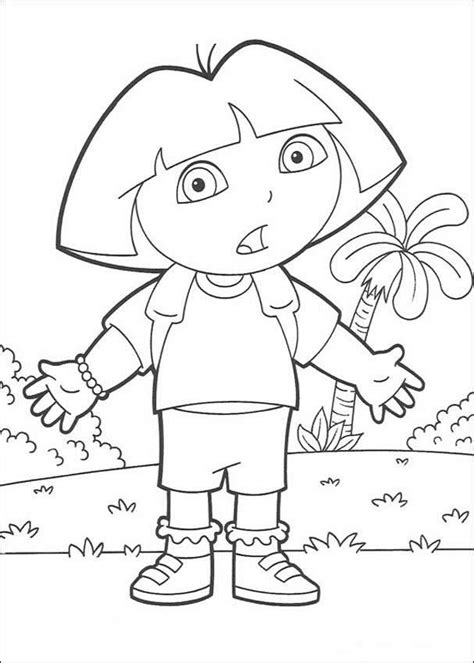 dora and friends coloring pages games surprised dora the explorer coloring pages hellokids com