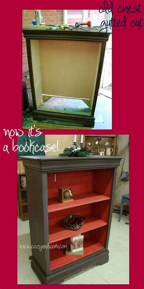 bookcase turned into distressed chest turned into bookcase i love how they did