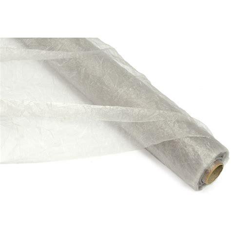 sheer fabric crinkle sheer fabric roll silver rf106426