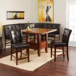 Kitchen Breakfast Nook Furniture Ravella Counter Height 6 Piece Nook Set Dining Table