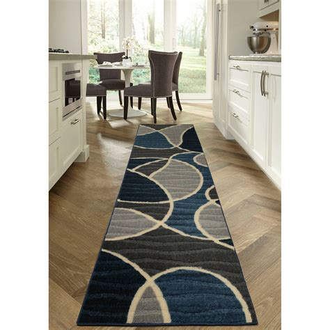 homes  gardens geo waves area rug  runner ebay