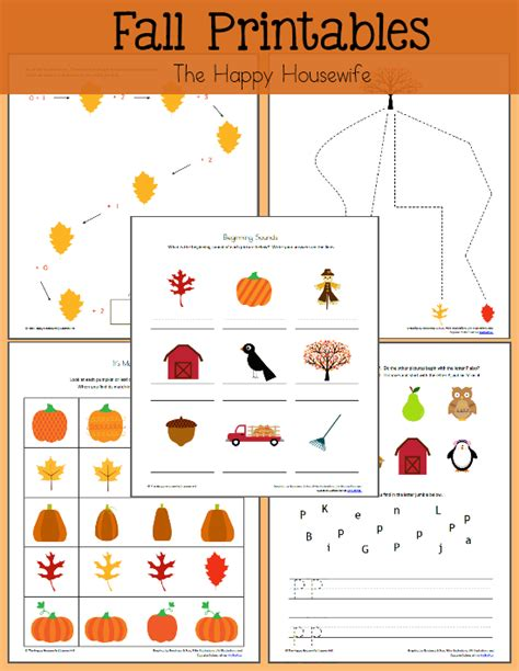 printable fall leaves for preschoolers fall themed worksheets free printables the happy