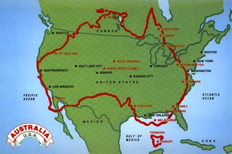 usa size map how big is australia compared to usa