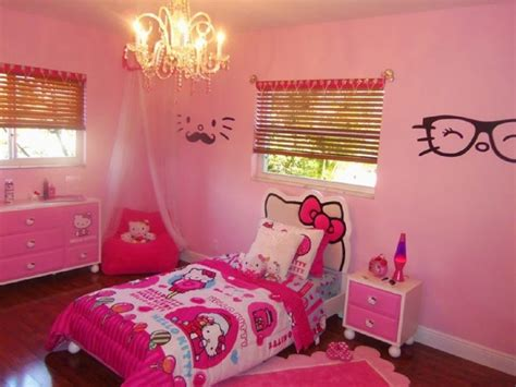 desain kamar gambar hello kitty desain dinding kamar tidur hello kitty anak remaja