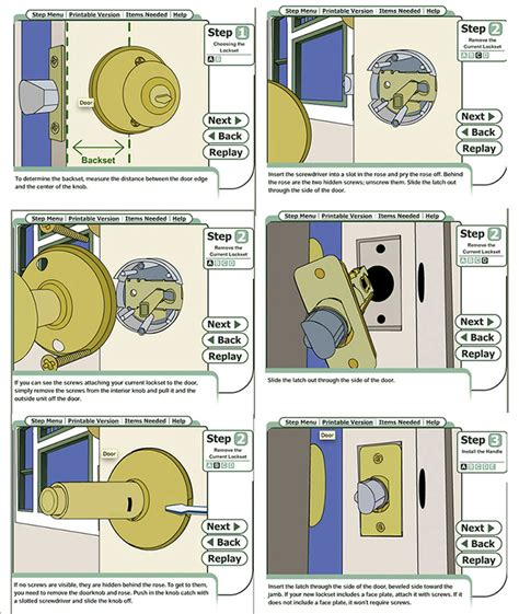 How To Replace Door Knobs by How To Install A Door Knob Paintedthorn