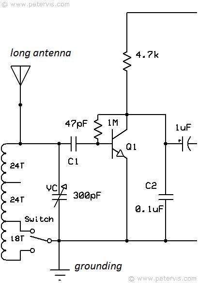 transistor radio schematic diagram three transistor radio circuit diagram