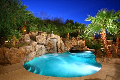 awesome pools lake las vegas awesome custom home on 17th green south