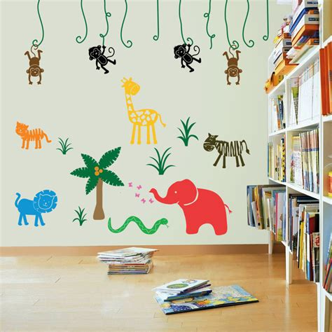 large jungle wall stickers large jungle safari wall stickers wall stickers decals