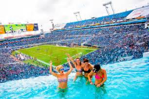 Jaguars Pool Roaming The Stadium With My During An Nfl Football