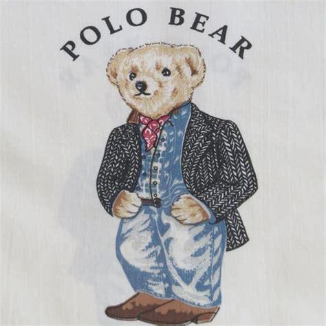 ralph lauren teddy bear comforter vintage ralph lauren pillowcase preppy cowboy polo bear