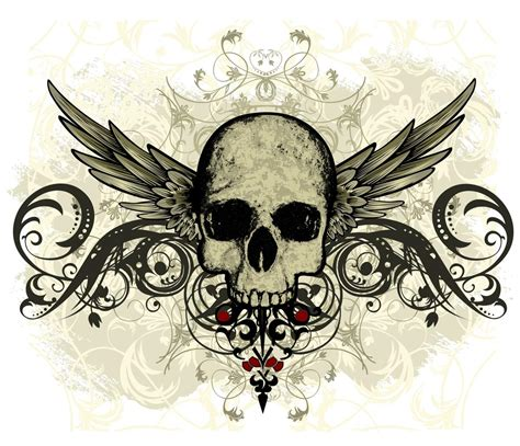 skull with wings tattoo designs irresistible half sleeve designs that are really