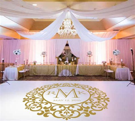 wedding dance floor decalvinyl decal wedding decor wedding