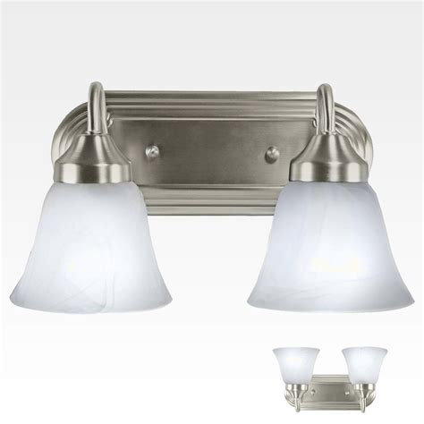 nickel bathroom light fixtures 2 light bathroom vanity interior lighting bath fixture brushed nickel ebay