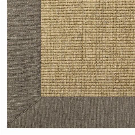wool sisal rug linen texture border wool sisal rug available in 3 colors w