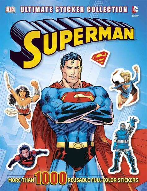 from superman to books superman ultimate sticker collection book