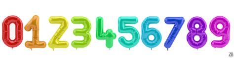 Number Balloon digits numbers balloons 3d models zb vision