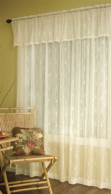 curtains with lace trim pineapple panel with trim heritage lace lace curtains
