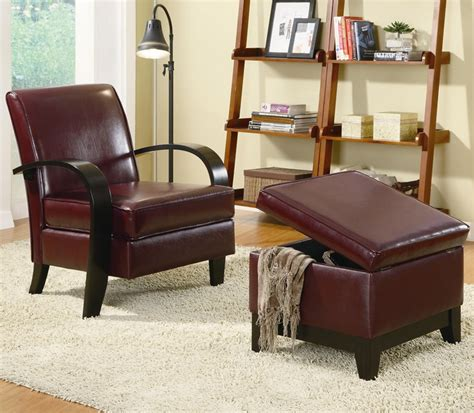 red accent chair with ottoman bentwood wine red accent chair with storage ottoman by