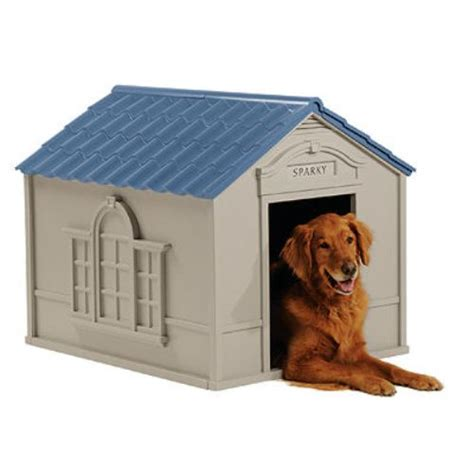 dog houses walmart suncast deluxe personalized large dog house dh 350 walmart com