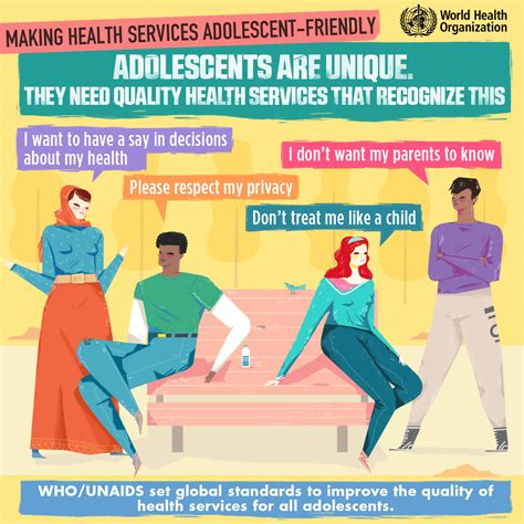 1 in 10 adolescents are using rugs who unaids launch new standards to improve adolescent care