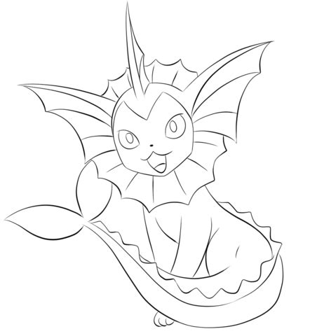 flareon coloring coloring pages