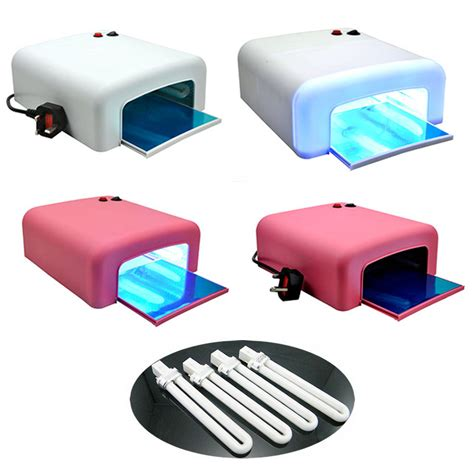Uv Light Nail Dryer by Pro 36w Uv Nail Dryer L Light Gel Curing Timer 4 X 9w