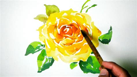watercolor painting yellow