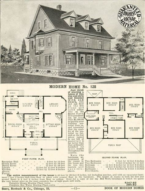 Sears Homes Floor Plans Sears Craftsman Style House Modern