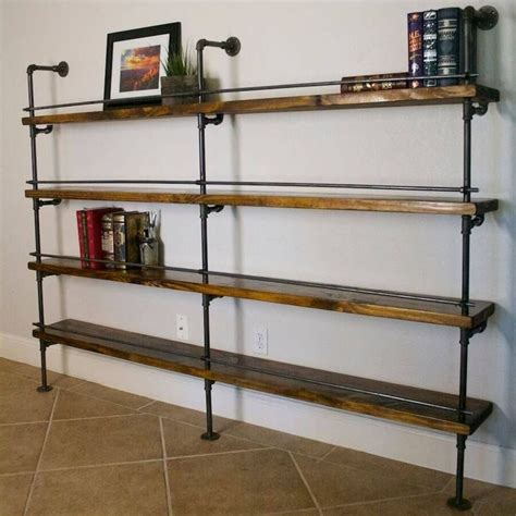 1000 ideas about industrial shelves on pipe