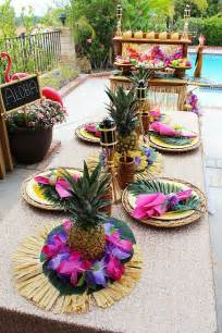 25 best ideas about luau table decorations on