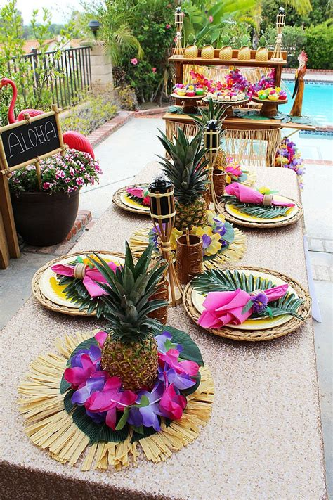 hawaiian themed decorations ideas 25 best ideas about luau table decorations on