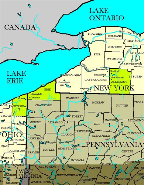 York County Pa Judicial Search Map Of New York And Pennsylvania Afputra