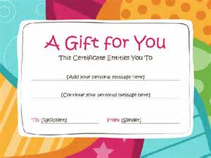 personalized gift certificates template free 57 creative custom certificate design templates free