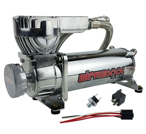 air bag suspension compressor  chrome psi