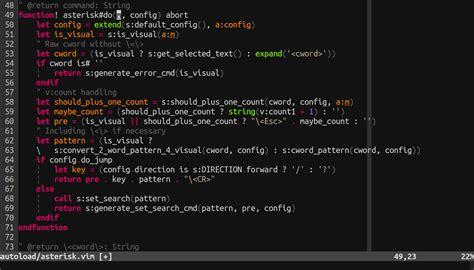 vim go github vim scripts vim asterisk improved