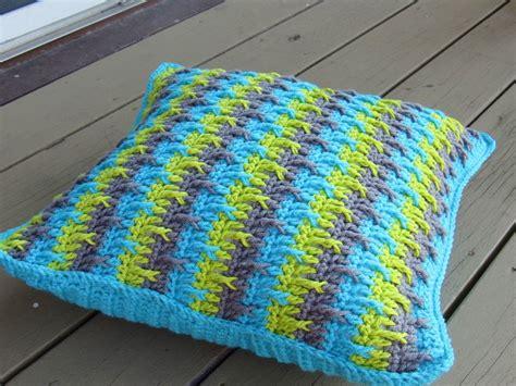 Crochet Pillow Patterns by Crochet Dreamz Textured Throw Pillow Cover Crochet