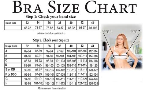 Bra Size Chart guide how to measure bra size