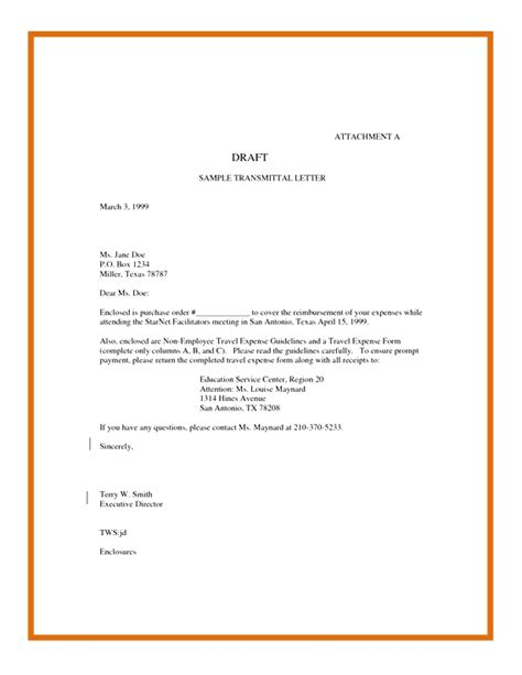 Web Content Editor Cover Letter by Transmittal Form Sle Cover Letter Docoments Ojazlink