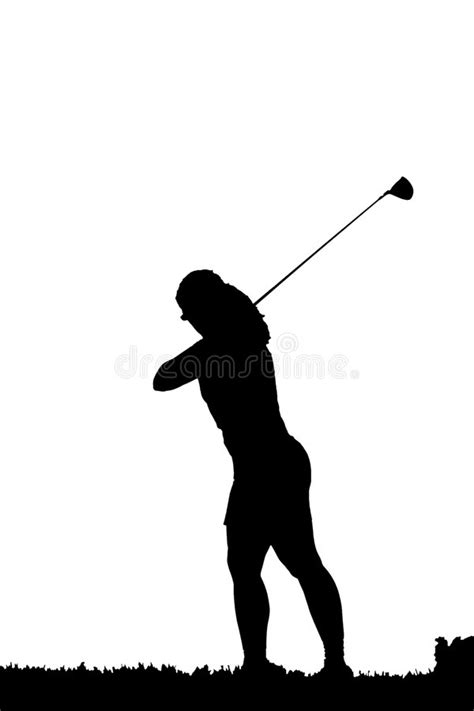golf swing silhouette golf swing silhouette royalty free stock photography