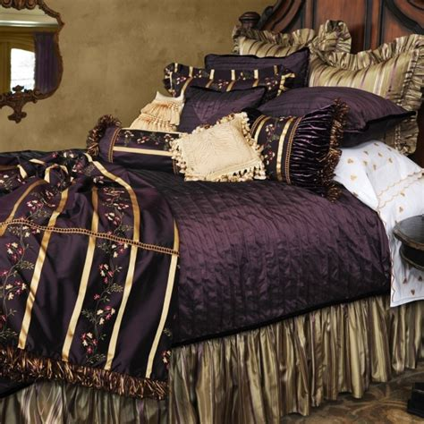 purple and gold bedding violette bedding by isabella collection bedding