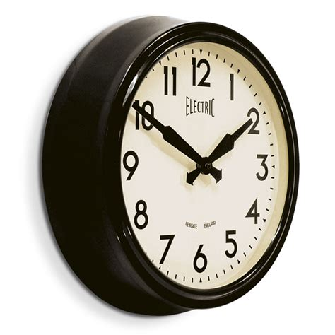 Kate Spade Vases Buy Newgate Clocks 50s Electric Clock Black Amara