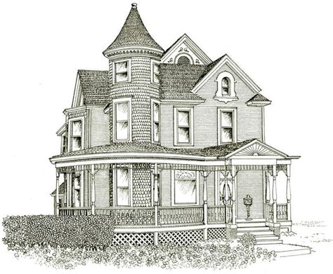 drawing house victorian house line drawing design basic 10 on inside
