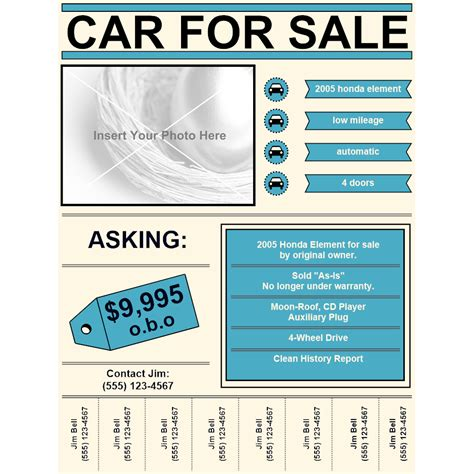 Car For Sale Flyer For Sale Template