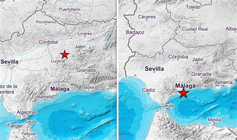 earthquake hotspots spain hit by triple earthquake trio of tremors hit brit
