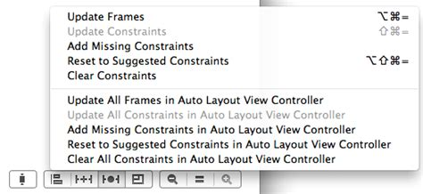 resolve auto layout option xcode working with ios 7 auto layout constraints in interface