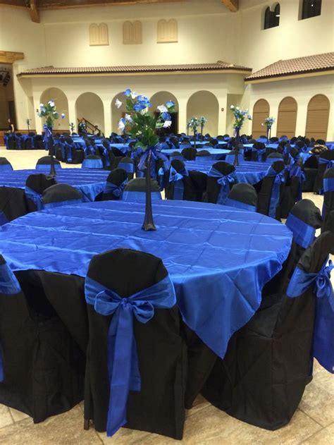 royal blue and black wedding ideas