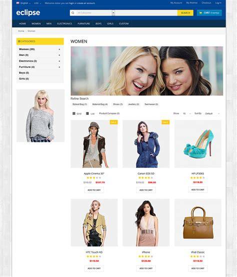 eclipse theme woocommerce eclipse opencart premium theme 100 responsive template